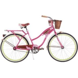 "26"" Womens Cruiser Bike - Pink Beach Bicycle For Women - Ride In Comfort Ease And Style With A Single Speed Gear Bike And Padded Saddle NEW"