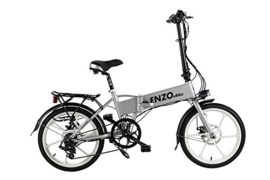 2017 Enzo eBike Electric Folding Bike Lightweight Electric Bicycle 350W 36V10.4ah +FREE GIFT 16000 mAh Solar Power Bank for cell phone