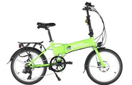 2017 Enzo EBike Folding Electric Bicycle - 7 Speed - Aircraft Aluminum - Lithium Ion - Full Electric Throttle or Variable Assist