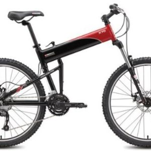 "Swissbike X70 30 Speed Folding Mountain Bike 18"" Black with Red Accents"