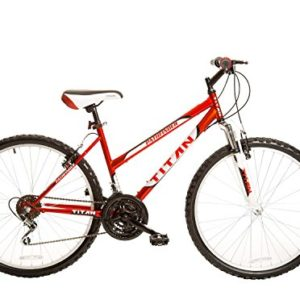Titan Pathfinder Women's 18-Speed Mountain Bike with 17-Inch Frame and Front Suspension Fork