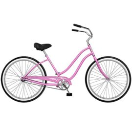 Phat Cycles Sea Breeze 26 Women's Beach Cruiser -- Single Speed 26 PINK