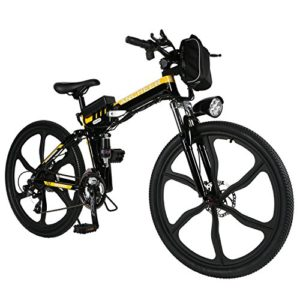 Cosway Electric Mountain Foldable Bicycle with Lithium-Ion Battery