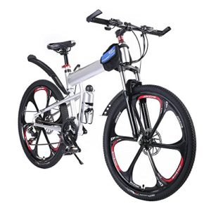 OPATER MTB Foldable Mountain Bike 26″ 24 Speed Sturdy Carbon Steel Frame Bike For Men and Women