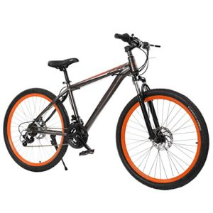 Cheesea Outdoor Camping Natural Rubber 27.5 Inches High Carbon Steel Frame 21 Speed Mountain Bike