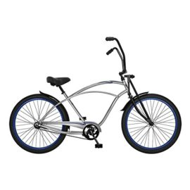 "Phat Cycles 26"" Tribal Springer Beach Cruiser -- 1 Speed 26 SILVER"