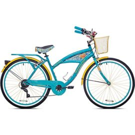 "26"" Womens Cruiser Bike With Basket Beach Bikes For Women Cycling Rider Bicycle Steel Frame Multi-Speed NEW"