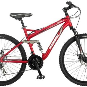 Mongoose Stasis Comp 26-Inch Full Suspension Mountain Bicycle