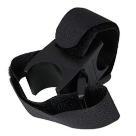 Cross Shaped Bicycle Mount Clamp for Flashlight Torch Lamp Black