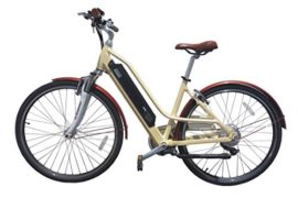 2017 e-Joe Bikes Gadis Electric Cruiser Bike Electric Comfort Bicycle Vanilla Beige +FREE GIFT 16000mAH solar charger power bank for your cell phone