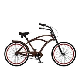 Phat Cycles Jalopy Men's 3-Speed Beach Cruiser - 2017 26 RED
